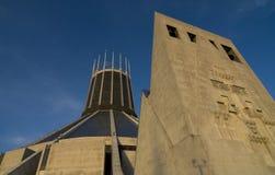 大教堂利物浦城市居民 图库摄影