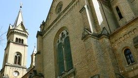 3 大教堂千年的细节从蒂米什瓦拉,罗马尼亚的 影视素材