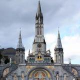 大教堂卢尔德 库存照片