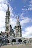 大教堂卢尔德 免版税库存照片