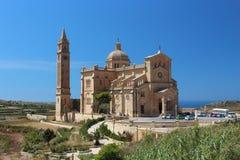 大教堂和深蓝天 库存照片