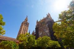 大教堂和GIralda塔 免版税库存图片