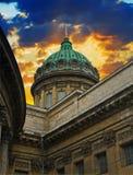 大教堂喀山彼得斯堡俄国st 免版税库存照片