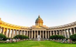 大教堂喀山彼得斯堡st 免版税库存图片