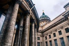大教堂喀山彼得斯堡st 免版税图库摄影