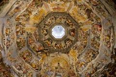 大教堂圆顶佛罗伦萨绘画 免版税库存图片