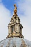 大教堂圆顶保罗s st顶层 免版税库存图片