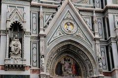 大教堂圆顶在佛罗伦萨,意大利,在一个春日 免版税图库摄影