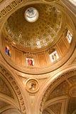 大教堂圆顶玻璃金黄墨西哥被弄脏的墨瑞利亚 免版税库存图片