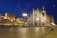 大教堂圆顶被采取的米兰 免版税库存照片
