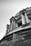 大教堂圆顶水平的彼得s射击了雕象的st 库存照片