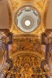 大教堂圆顶绘画教会萨尔瓦多塞维利亚西班牙 免版税图库摄影