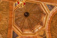 大教堂圆顶Parroquia教会圣米格尔德阿连德墨西哥 免版税库存照片