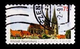 大教堂圣伯多禄,雷根斯堡创立了1273-1520,世界遗产名录选址serie的联合国科教文组织,大约2011年 库存图片