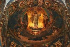 大教堂圣彼德堡内部秀丽  库存照片