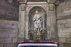 大教堂圣徒赫瓦希圣徒Protais在苏瓦松,法国 免版税库存图片