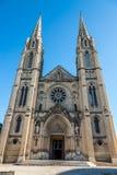 大教堂圣徒Baudile Fascade在尼姆 免版税库存图片