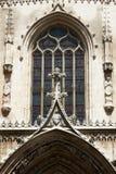 大教堂圣徒Sauveur门面装饰品 免版税库存照片