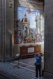 大教堂圣玛丽亚中篇小说,佛罗伦萨内部  免版税库存图片