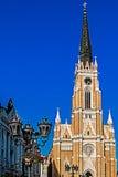 大教堂圣玛丽亚的街道视图在诺维萨德1 库存图片