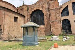 大教堂圣玛丽亚degli Angeli e dei Martiri在罗马 库存图片