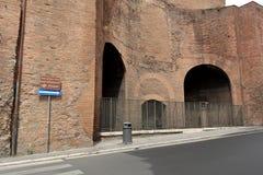 大教堂圣玛丽亚degli Angeli e dei Martiri细节  免版税库存照片