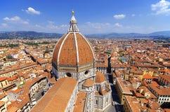 大教堂圣玛丽亚del菲奥雷的看法在佛罗伦萨,意大利 库存图片