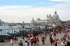 大教堂圣玛丽亚della致敬在威尼斯-意大利 免版税图库摄影