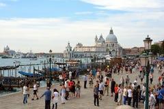 大教堂圣玛丽亚della致敬在威尼斯-意大利 库存照片