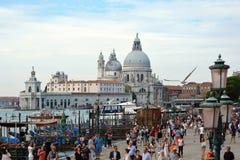 大教堂圣玛丽亚della致敬在威尼斯-意大利 免版税库存图片