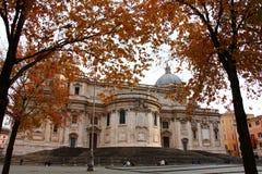 大教堂圣玛丽亚Maggiore门面 免版税库存照片