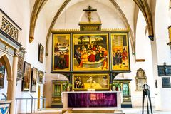大教堂圣玛丽& x27; s城市教会Stadtkirche Lutherstadt维滕 免版税库存照片