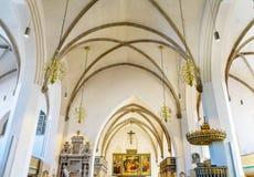 大教堂圣玛丽& x27; s城市教会Stadtkirche Lutherstadt维滕 库存照片