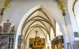 大教堂圣玛丽& x27; s城市教会Stadtkirche Lutherstadt维滕 库存图片