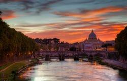 大教堂圣皮特圣徒・彼得在罗马,意大利 库存照片