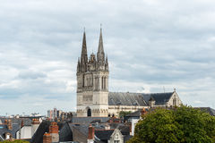 大教堂圣莫里斯的看法,愤怒(法国) 图库摄影