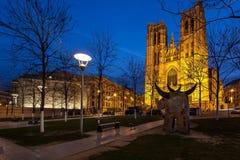 大教堂圣迈克尔布鲁塞尔比利时 免版税库存照片