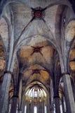 大教堂圣洁十字架和圣徒尤拉莉亚巴塞罗那,西班牙, 2016年 免版税库存图片
