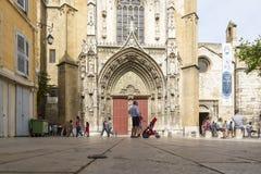 大教堂圣索弗尔d `艾克斯普罗旺斯 图库摄影