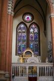 大教堂圣Petronio内部在波隆纳城市 库存图片