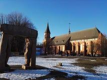 大教堂在冬天 免版税库存图片