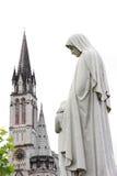 大教堂在卢尔德 免版税库存照片