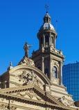 大教堂在圣地亚哥de智利 免版税库存照片