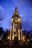 大教堂在圣塞瓦斯蒂安,西班牙 库存图片