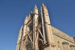 大教堂在奥尔维耶托-意大利 库存图片