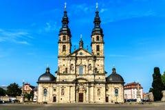 大教堂在富尔达,德国 免版税库存照片