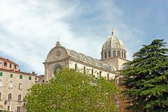 大教堂在希贝尼克 图库摄影