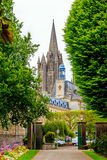 大教堂在库唐塞,诺曼底,法国 库存照片