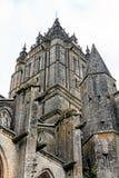 大教堂在库唐塞,诺曼底,法国 免版税库存照片