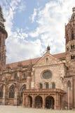 大教堂在弗莱堡 库存照片